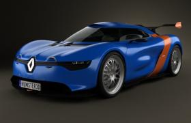 雷诺Alpine A110 2012款A110-50 Concept高精度汽车工程模型VRAY MODEL