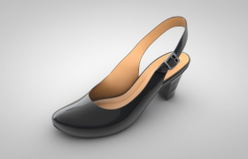 女性黑胶鞋高跟鞋shoes obj c4d models模型下载