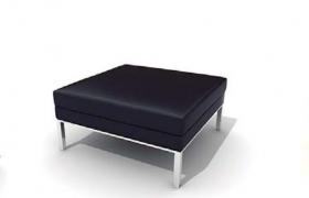 全青皮材質設計服裝店鋪方形公共沙發座椅C4D模型