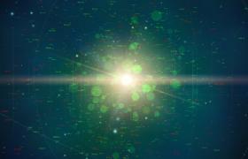 綠色虛擬球體旋轉變幻抽象數字呈現MOV科技特效視頻