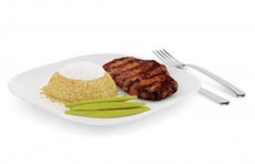雞蛋西芹黑椒牛排飯西式美味晚餐C4D模型(含材質)