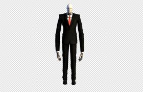 長手長腳的西裝革履僵尸動畫人物角色C4D模型
