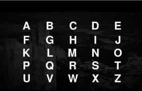 PR CC2019电影主题徽标26个创意英文字母开场动画mogrt模板下载