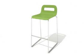 咖啡廳高腳綠色吧臺座椅Cinema4D標準物理模型
