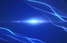 藍色科技光效背景光線漣漪起伏HD特效視頻素材