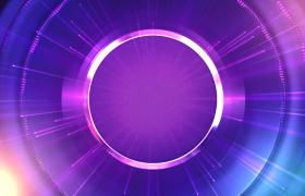 質感光圈藍紫光效動感光線演繹科技特效視頻素材
