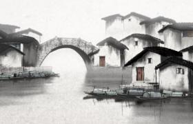 江南水鄉古風藝術美景水墨片頭特效視頻素材