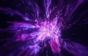紅紫光效煙霧中穿梭星際特效視頻素材