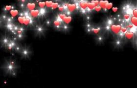五款愛心動態特效婚慶戀愛片頭HD視頻素材