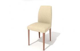 高品質米其林室內餐廳米色布藝座椅C4D模型