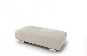 簡致更衣室軟性沙發座椅C4D家具物理模型