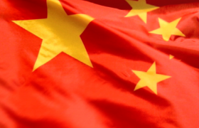 中國紅旗隨風飄揚雄偉壯麗特效視頻素材