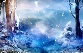 冰雪森林梦幻精灵飞舞MOV儿童特效视频素材