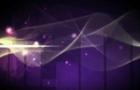 科技螺旋光線網運動紫色光效七彩粒子漂浮HD特效視頻