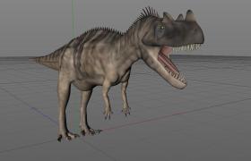 四肢粗壮的凶残陆地食肉恐龙角鼻龙C4D模型