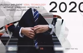 時間推移遞進過渡創意特效動畫企業宣傳片時尚PR模板