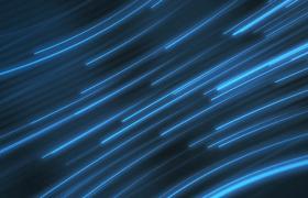 蓝色光线三维空间弧状滑动MOV科技特效视频