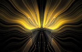 黄色光线对称变幻炫酷VJ酒吧夜场视频