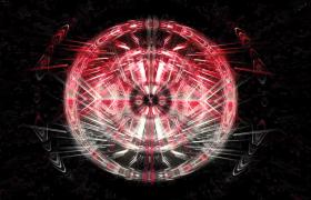 红白炫彩光线科技光圈万花筒图案变幻VJ酒吧夜场视频