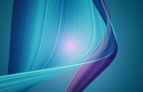 蓝紫科技光线柔美飘动动态特效视频素材
