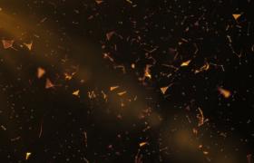 橙色光束投射點線科技圖形三維空間漂浮HD特效視頻