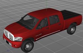 运动型多用途车道奇DODGE RAM公羊美式大型SUV C4D汽车工程模型
