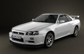 极品飞车OL赛道战神1999日产GTR R34 couper超跑3D模型
