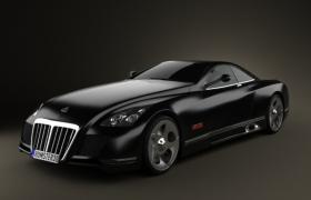 全球只此一辆的迈巴赫Exelero顶级豪华高档汽车3D汽车工程模型