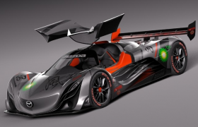 马自达Furai风之声超跑海外最新概念车3D C4D汽车工程模型