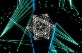 光線科技球體旋轉粒子動態舞動炫酷VJ酒吧夜場視頻
