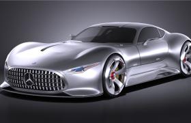 正义联盟蝙蝠侠座驾奔驰梅赛德斯Vision GT全球限量款概念车C4D模型