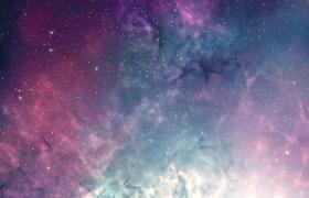 炫彩烟雾星空闪烁粒子震撼演绎HD动态特效视频