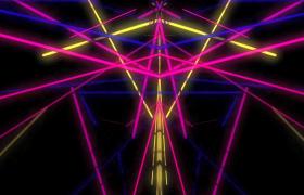 七彩光线对称旋转变幻VJ酒吧夜场视频