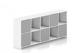 创意性多隔口时尚室内装饰艺术品展台精致卧室墙柜C4D模型