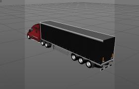 高檔豪華商用大型物資牽引卡車Cinema4D汽車工程模型