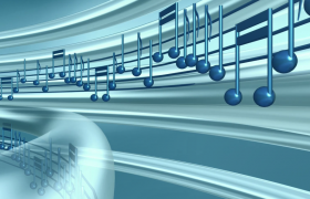 科技光影管道運動音符動感旋轉LED舞臺背景視頻
