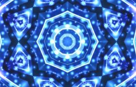 藍色炫酷光效萬花筒活潑變幻LED動感舞臺背景視頻