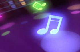 炫彩光效音符動感跳躍LED絢麗舞臺背景視頻
