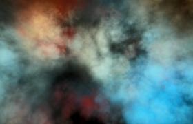 炫彩光效背景黑色烟雾动态漂浮HD特效视频