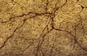泥土地面干裂裂缝快速延长震撼特效视频素材