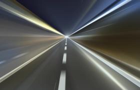 高速公路快速沖刺行駛動態特效視頻素材