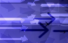 紫色光效演繹光線箭頭移動MOV動態特效視頻