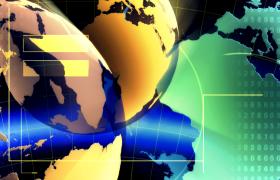 抽象數字快速變換虛擬地球旋轉HD科技特效視頻