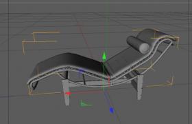 夏日沐光浴休閑躺臥式休閑懶人座椅C4D框選幾何體模型
