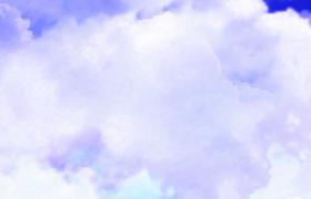 淡紫腾云缓慢冲刺三维视觉动态实拍视频素材