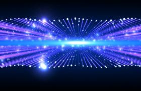 双层炫彩光线粒子三维横向炫丽冲击震撼开场特效视频素材