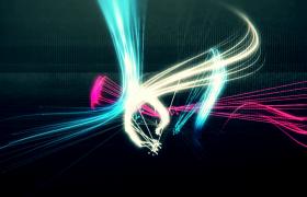 柔美炫彩光线炫丽缠绕运动科技片头视频素材下载