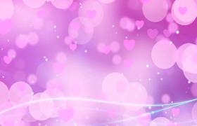 粉紅愛心甜蜜漂浮光斑粒子夢幻點綴婚慶情人節視頻
