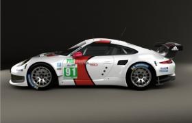 保时捷跑车赛道改款商标logo赛事拉花Carrera 991 RSR 2013经典跑车模型