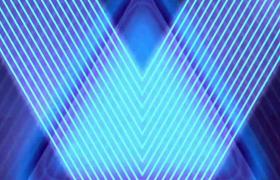 光線光效三角圖形疊加擴散變幻動感炫麗舞臺背景視頻